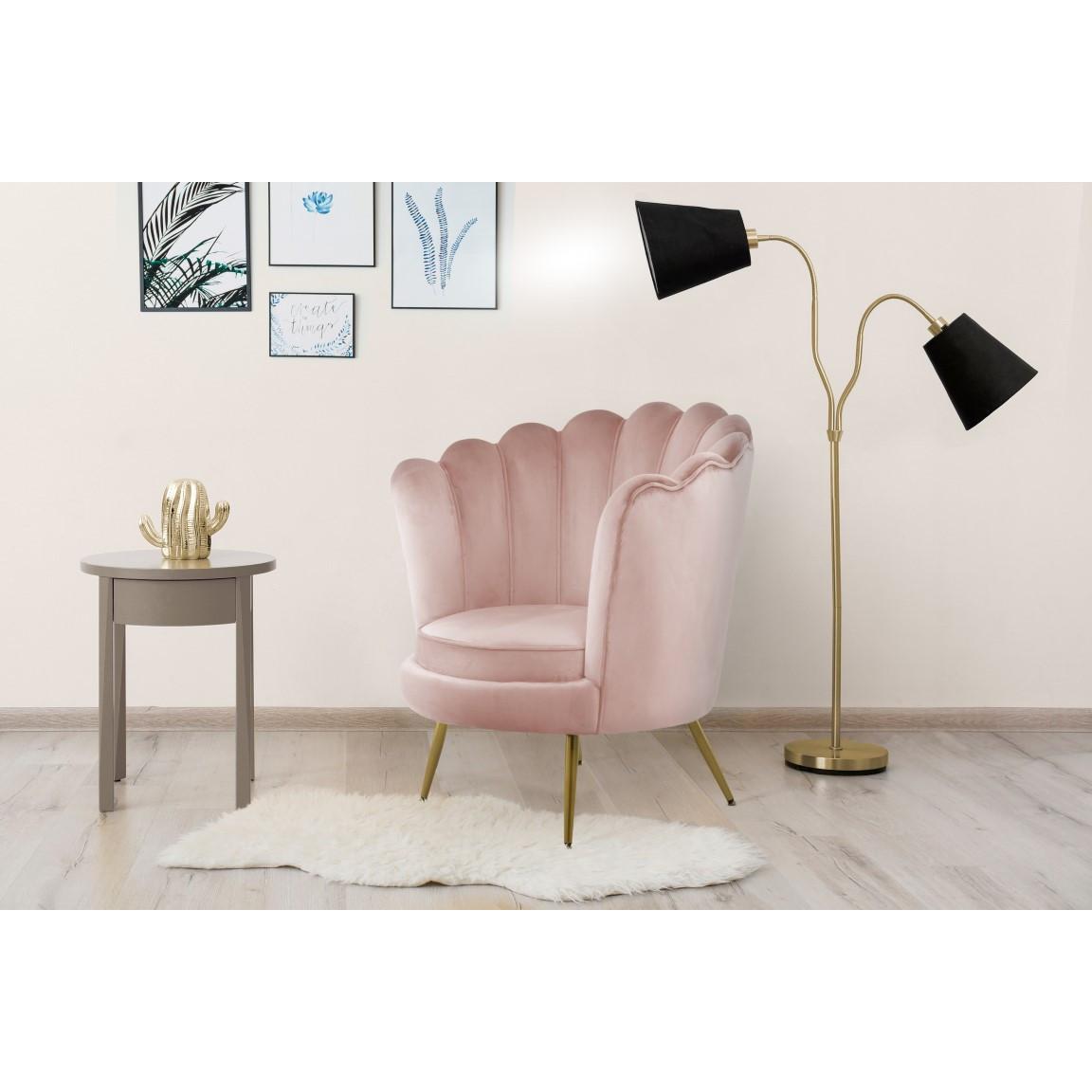 Round Armchair Frappa 733 | Pink