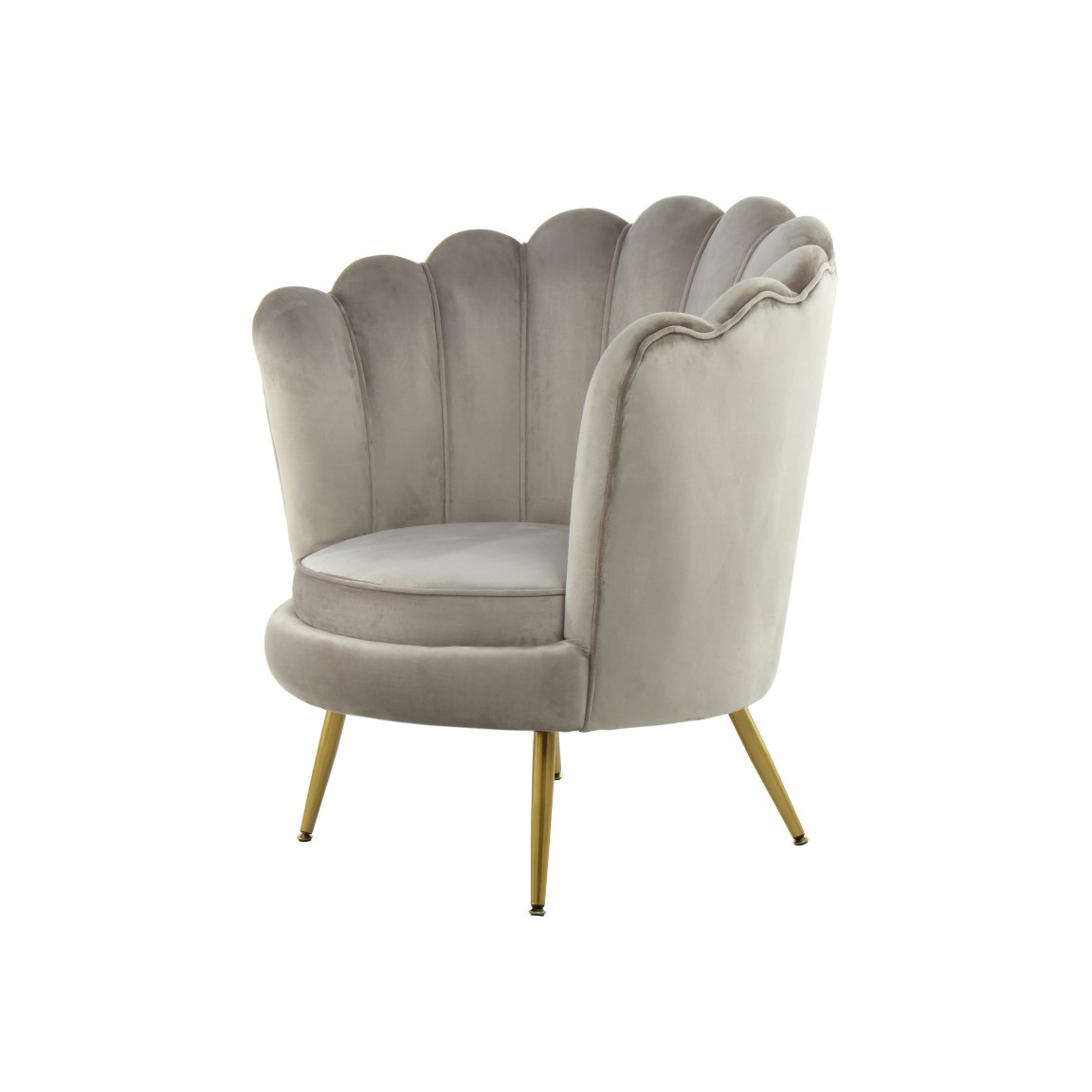 Round Armchair Frappa 733 | Taupe