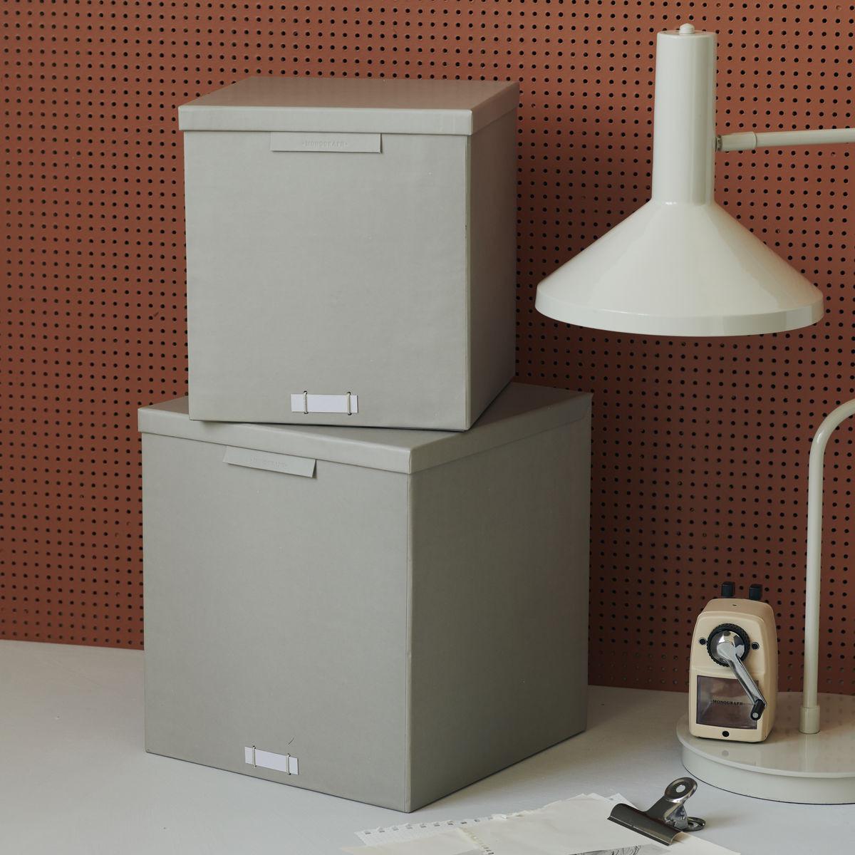 2er-Set Schachteln mit Deckel File | Grau