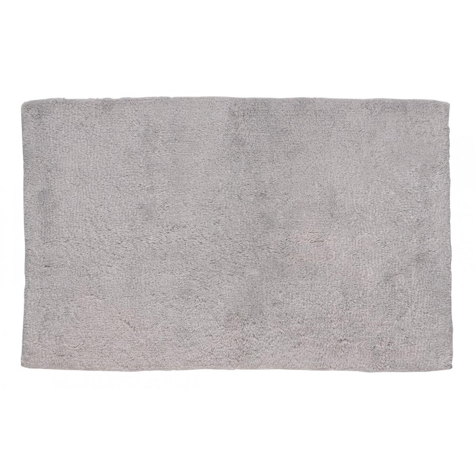 Tapis de Bain Ladessa Uni Gris Clair | 80 x 50 x 2 cm