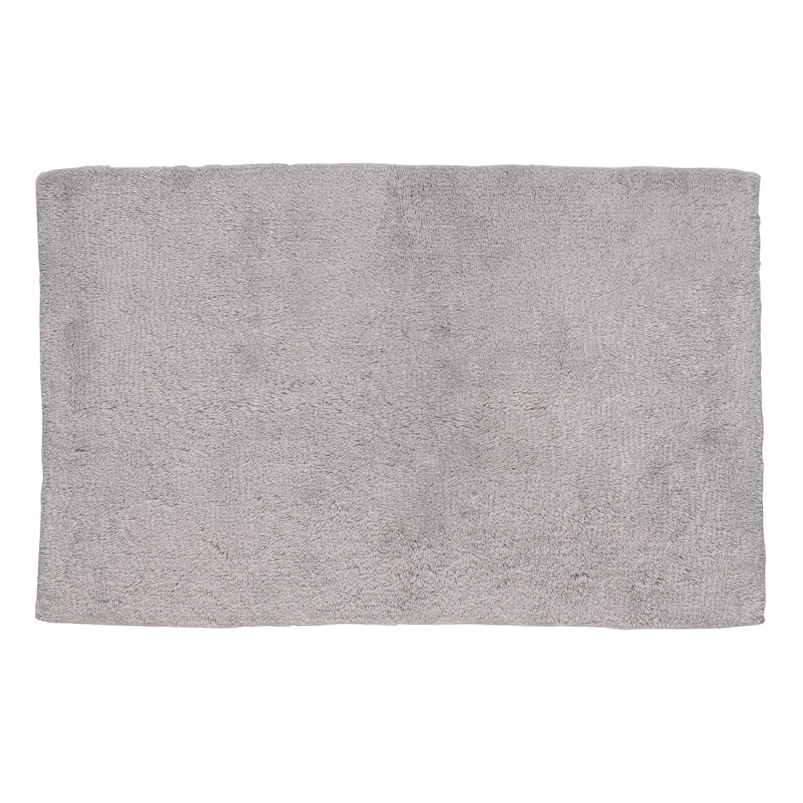 Tapis de Bain Ladessa Uni Gris Clair | 100 x 60 x 2 cm