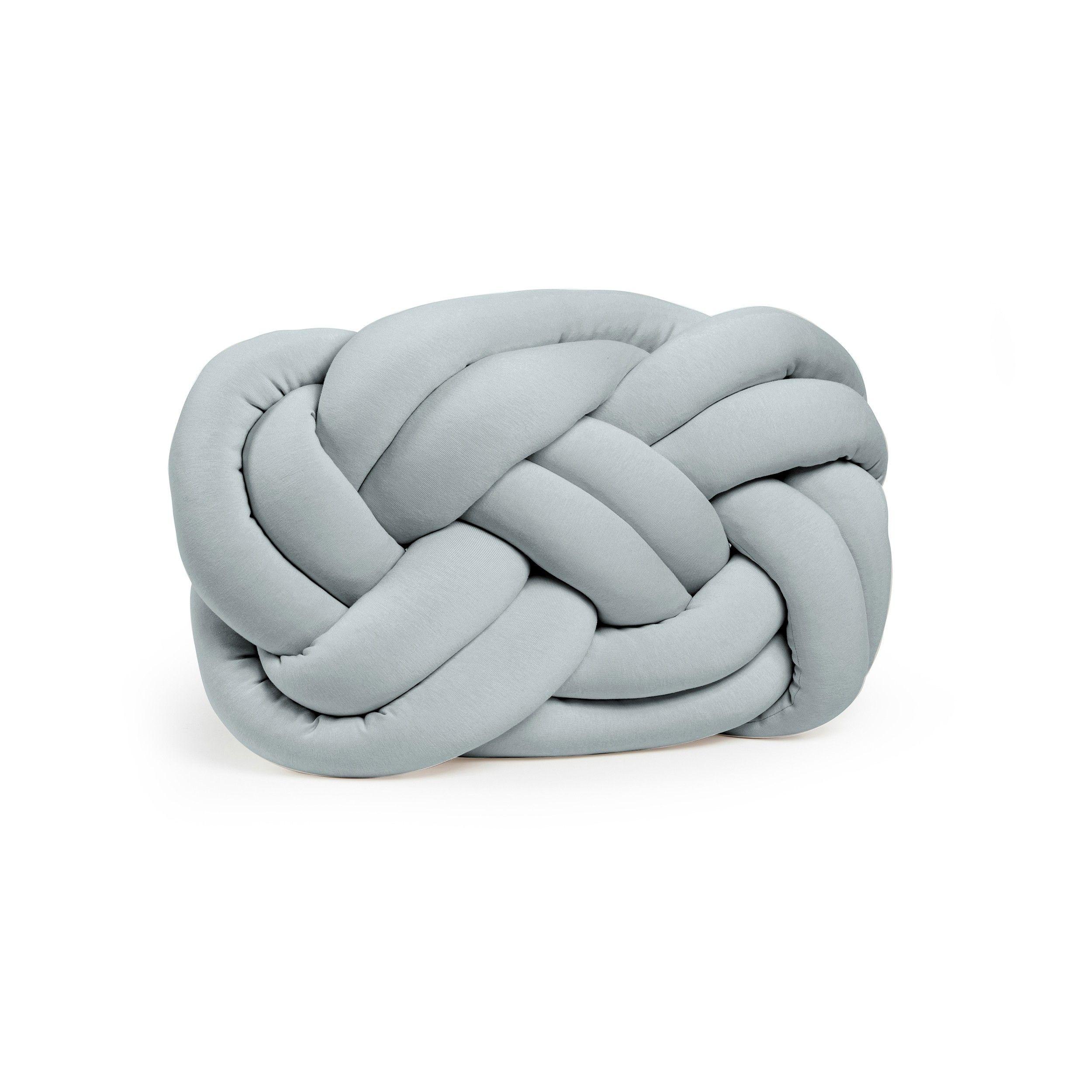 Decoratief Kussen Knot   Grijs