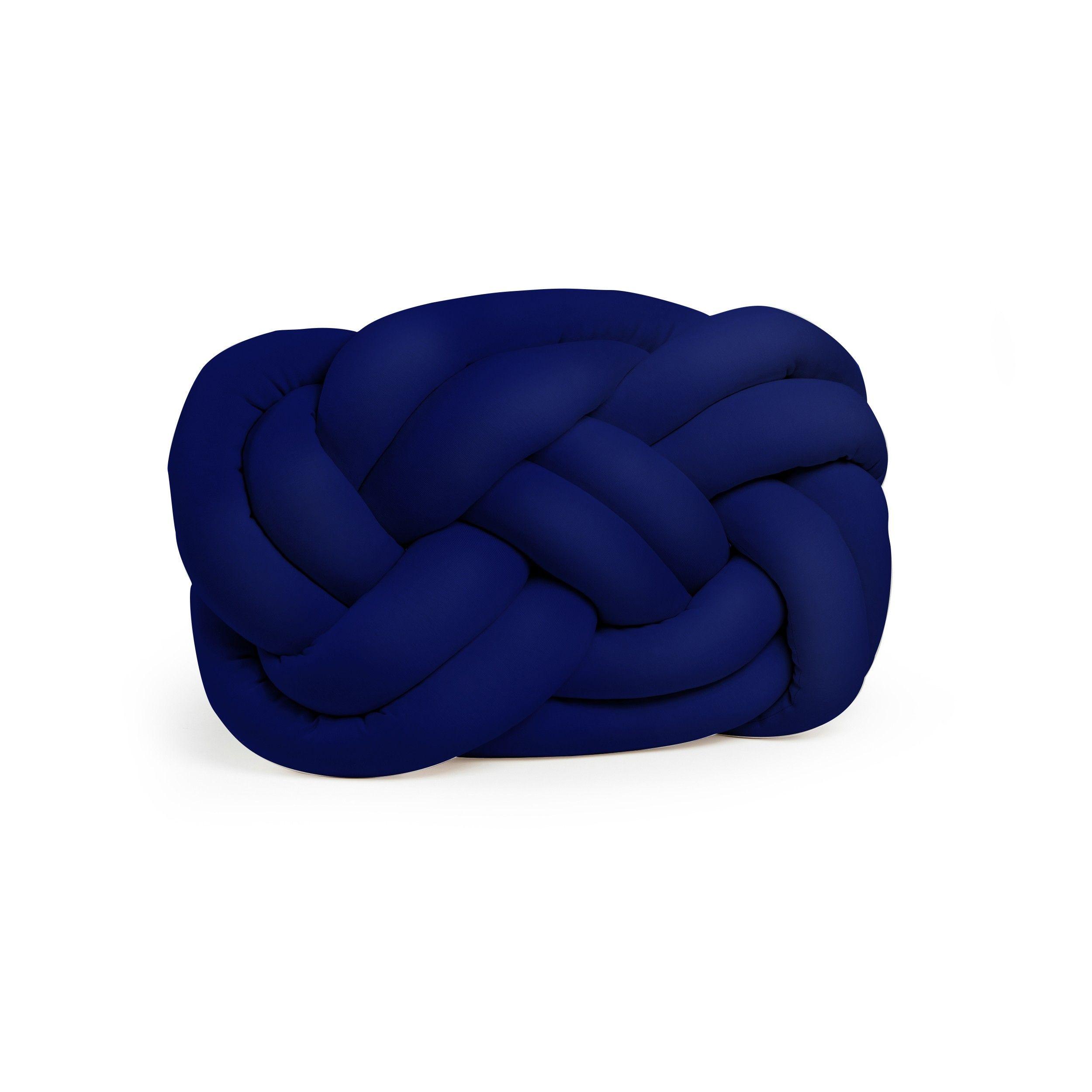 Dekorativer Kissenknoten Polyester | Navy & Indigoblau