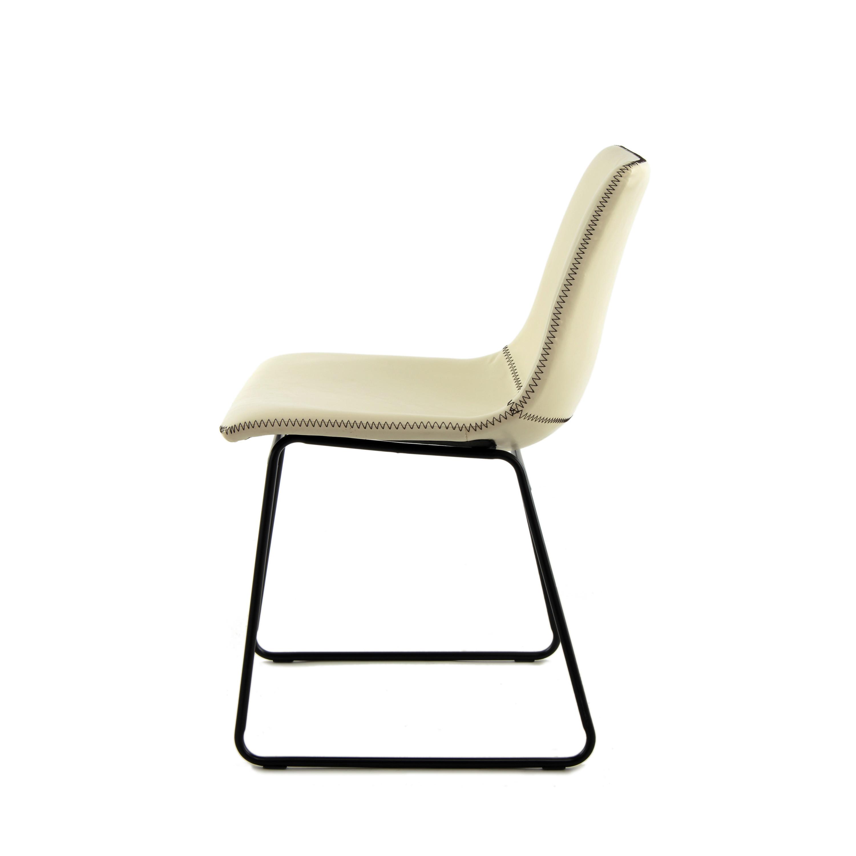 Set de 2 Chaises Liam   Blanc/Crème