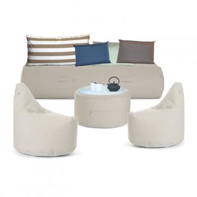Outdoor-Lounge-Set 'Soziale Terrasse' | Beige