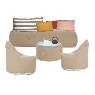 Outdoor-Lounge-Set 'Soziale Terrasse' | Taupe