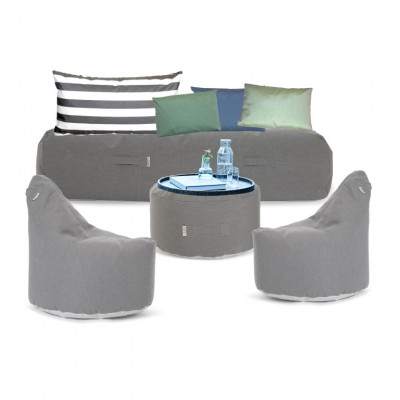 Outdoor-Lounge-Set 'Soziale Terrasse' | Grau