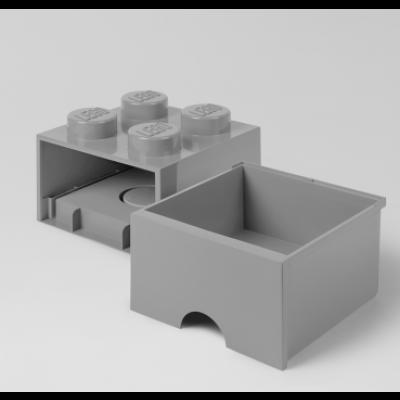 LEGO Steinschublade 4 Knöpfe (1 Schublade)   Grau