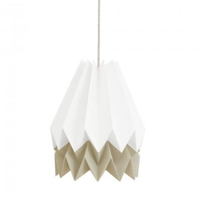 Stripe Lampshade | White & Taupe