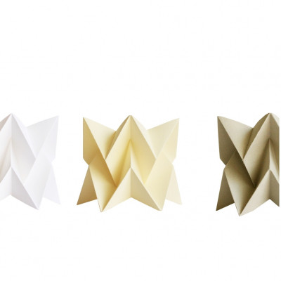 Set of 3 Tealights   White, Yellow, Taupe