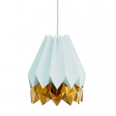 Stripe Lampshade | Blue & Gold