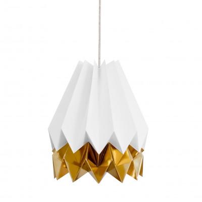 Stripe Lampshade | White & Gold
