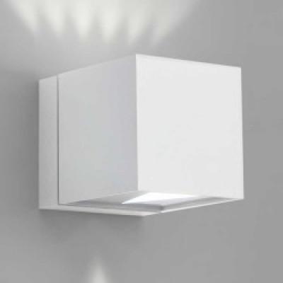 Wandleuchte Dau Cube | Weiß lackiert