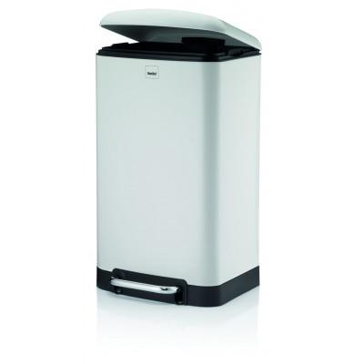 Treteimer mit Lautlosem Schließen 30 L   Weiß