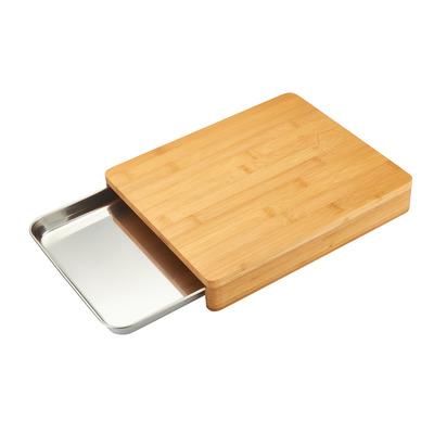 Wooden Cutting Board + Storage Drawer