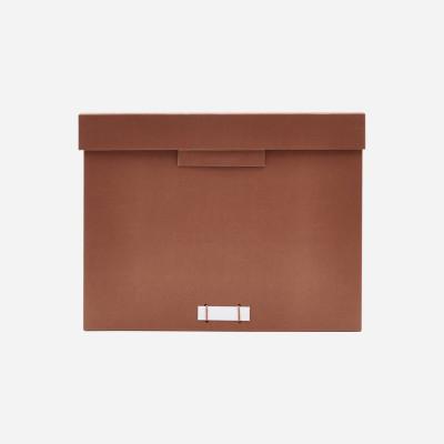 Aufbewahrungsbox File | Cognac