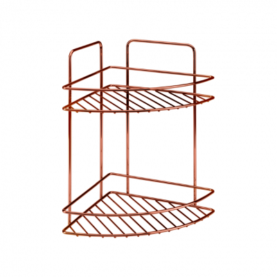 Badezimmerregal Reflex | 2 Etagen | Kupfer