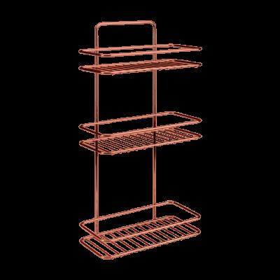Badezimmerregal Rechteckig Reflex | 2 Etagen | Kupfer
