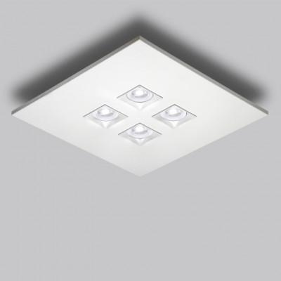 Deckenleuchte Quadratisch 4 X Gu10 | Weiß