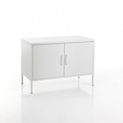 Sideboard 2 Türen Industrie   Weiß