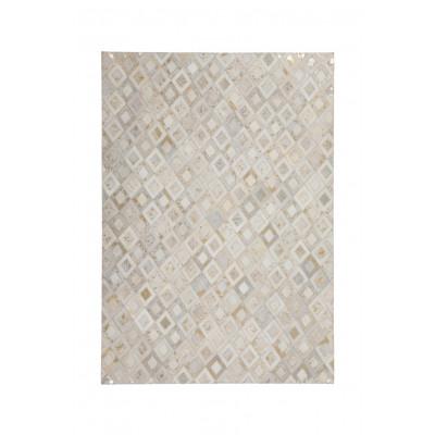 Teppich Dazzle 100 | Elfenbeinweiß und Chrom