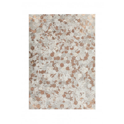 Teppich Dazzle 200 | Elfenbeinweiß und Chrom
