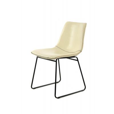 2er-Set Stuhl Liam | Weiß/Crème