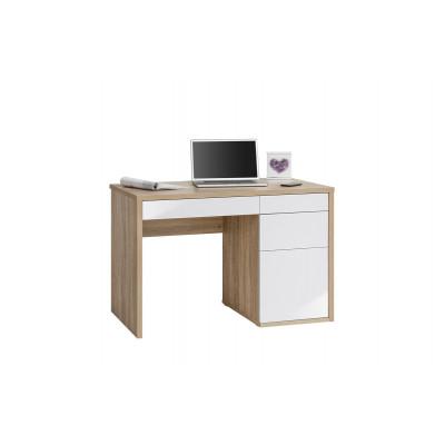 Computertisch 4059 | Sonoma-Eiche / Weiß Hochglanz