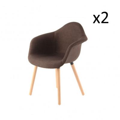 2er-Set Stühle Excelsa | Braun