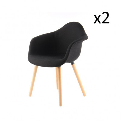 2er-Set Stühle Excelsa | Schwarz