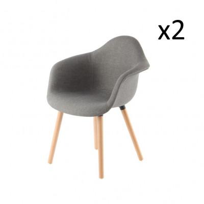 2er-Set Stühle Excelsa | Grau