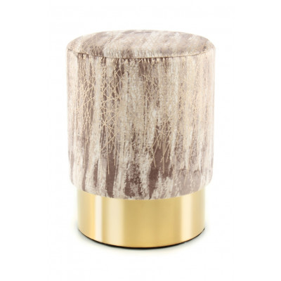 Pouf Rick 333 | Taupe & Gold