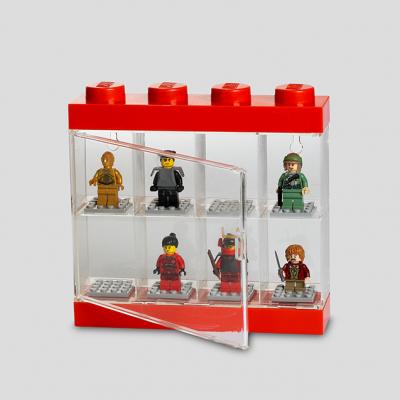 LEGO Minifiguren-Vitrine 8 Rot