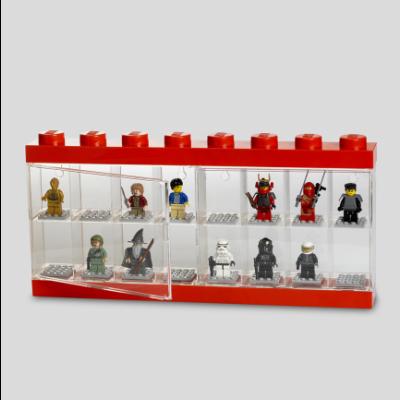 LEGO Minifiguren-Vitrine 16 Rot