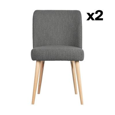 2-er Set Stühle Force | Stahlgrau