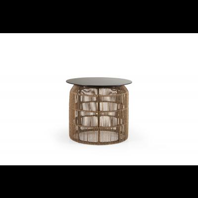 Beistelltisch Pamir | Hellbraune & schwarze Tischplatte