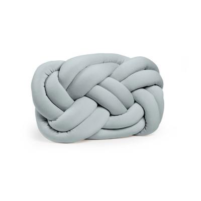 Dekorativer Kissenknoten | Grau