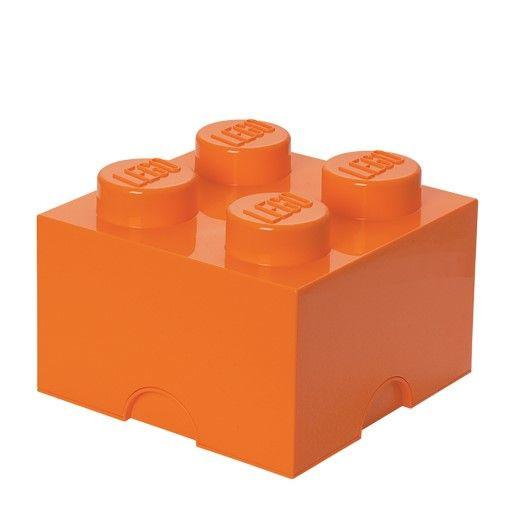 Storage Brick 4 Large   Orange