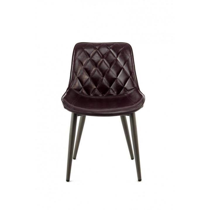 Chair Cecilia Set of 2   Dark Purple