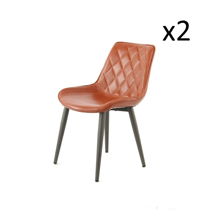 Chair Cecilia Set of 2 | Coffee