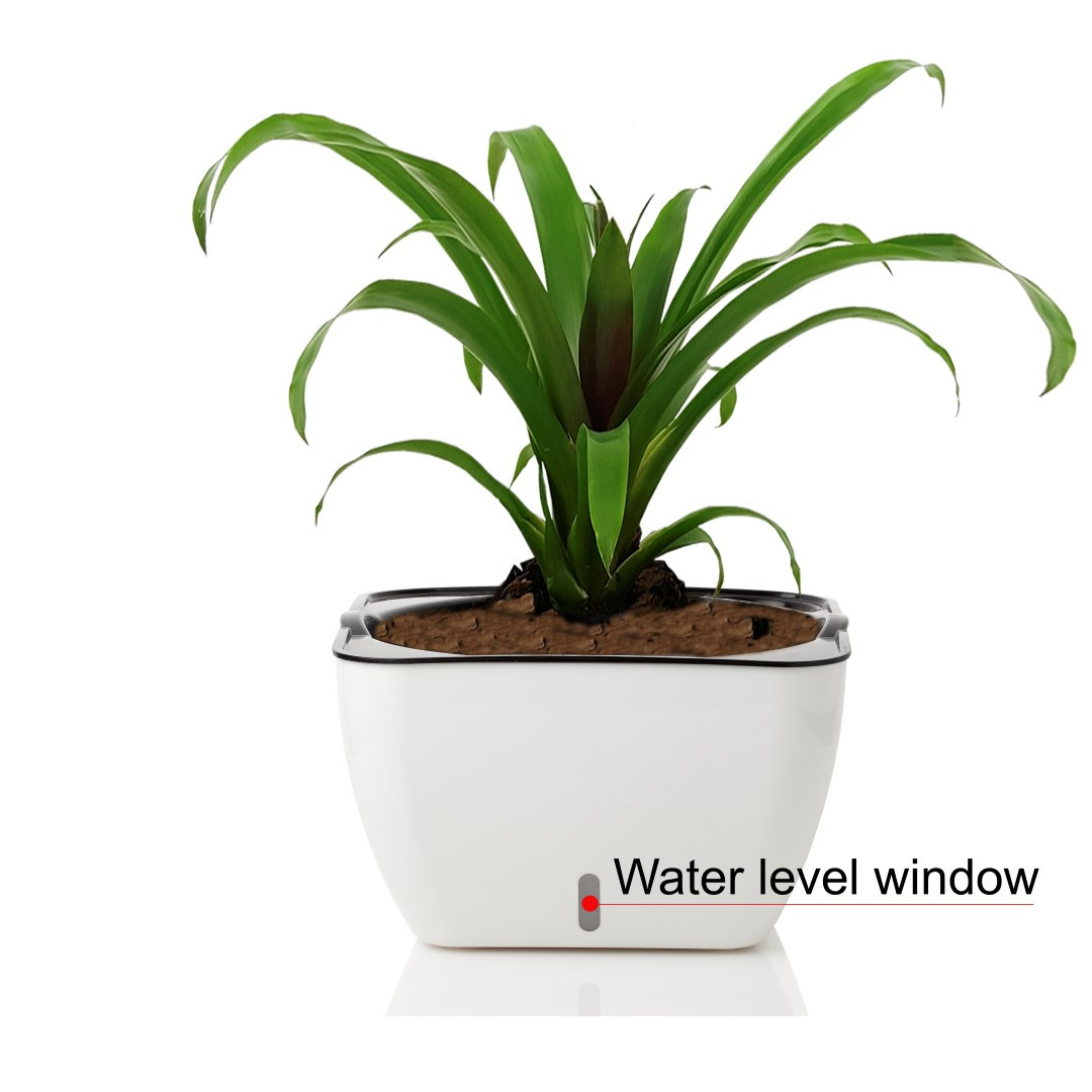 Self-watering Plant Pot Lily   White