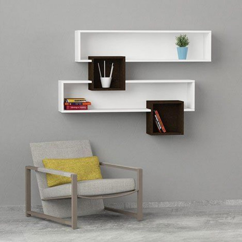 Salad Wall Shelves | White & Wengé
