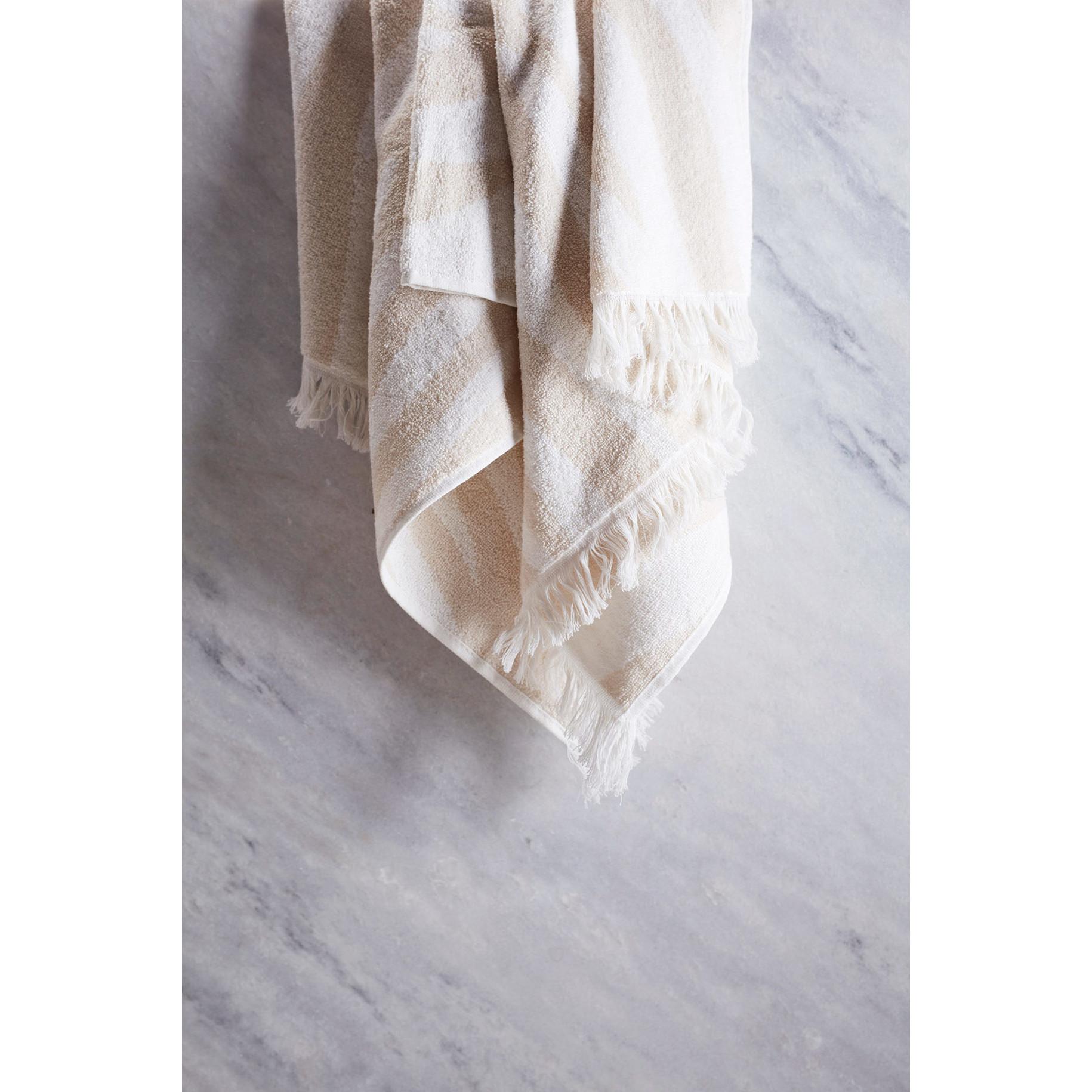 Handtücher Willow 4er-Set   Beige & Weiß