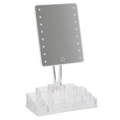 Schminkspiegel & Organizer LED 360