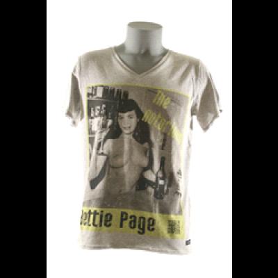 Bettie T-Shirt Men V-Neck- Grey
