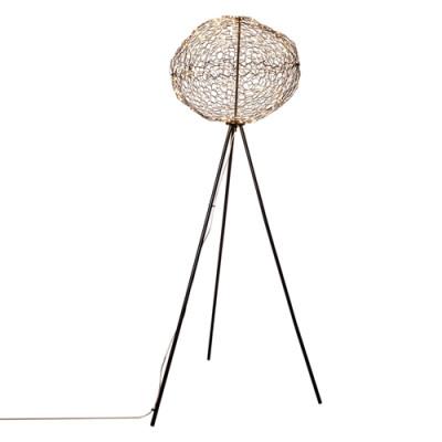 Stehlampe Hayden | Matt Schwarz