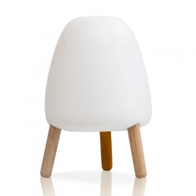 Tischlampe Jelly | Weiß und Holz