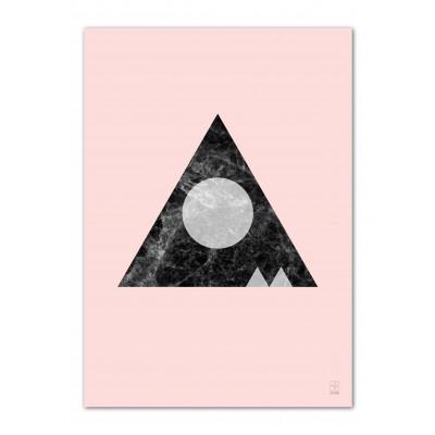 A3 Druck | Marmor Marvel 06 Rosa