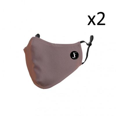 2er-Set Gesichtsmaske Spirit P | Terracotta