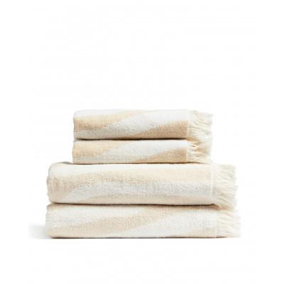 Handtücher Willow 4er-Set | Beige & Weiß